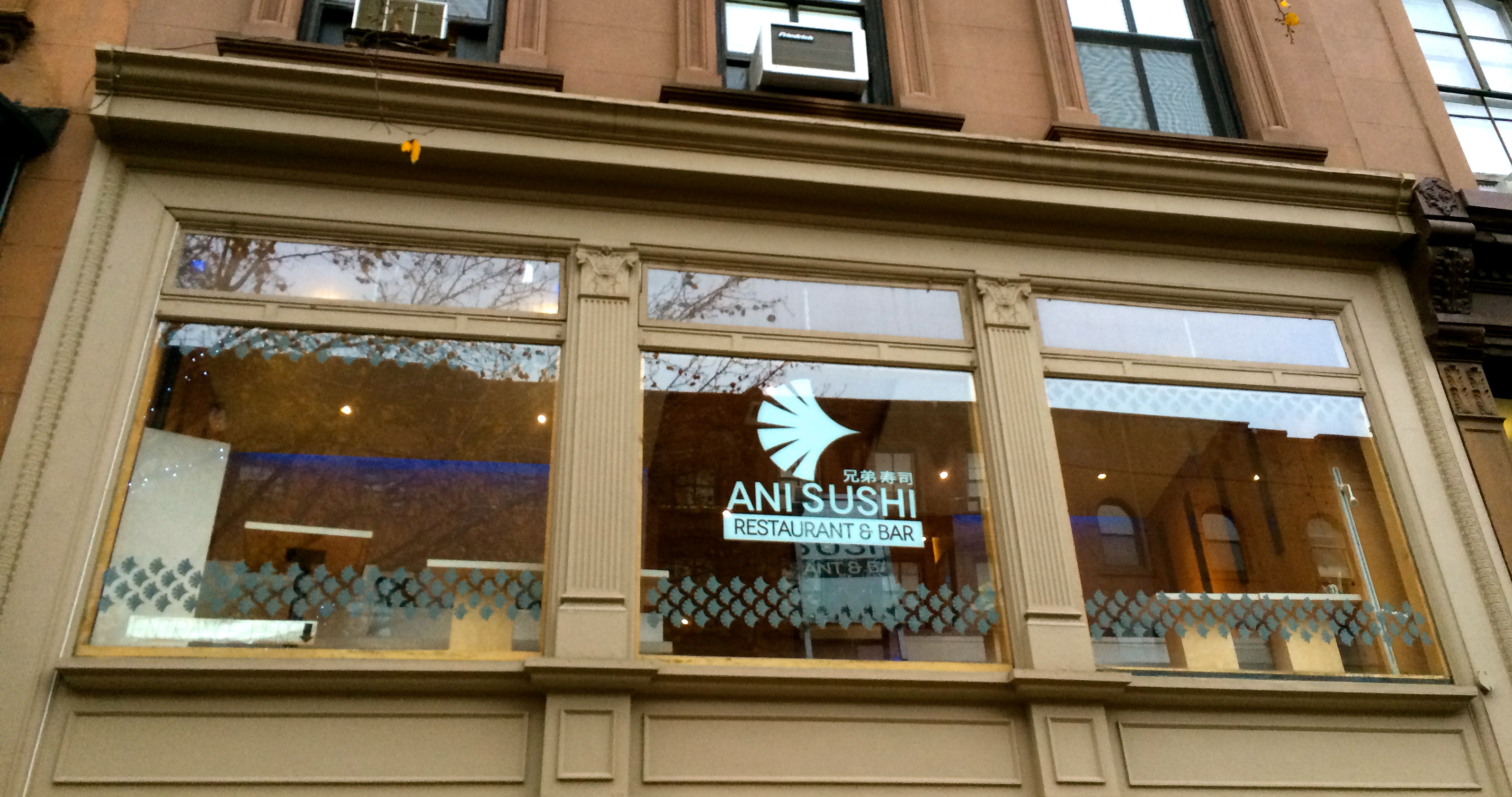 Ani Sushi Window Exterior