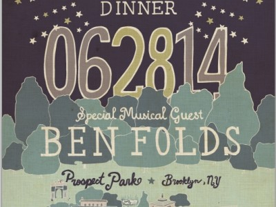 Prospect Park: Ben Folds to Perform at PopUp Dinner Brooklyn