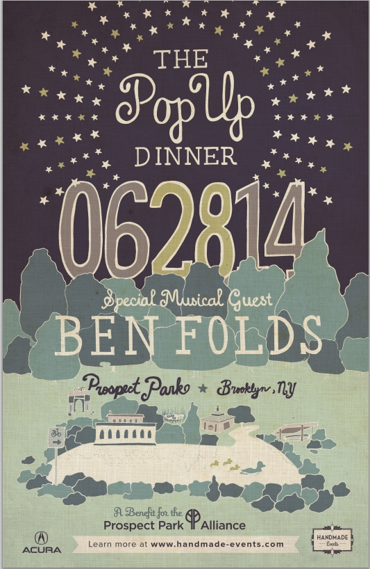 Ben Folds PopUp Dinner Brooklyn