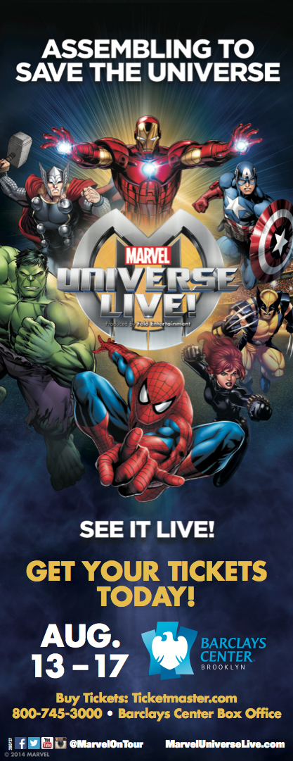 CONTEST: Win a Family Four Pack to Marvel Universe Live!