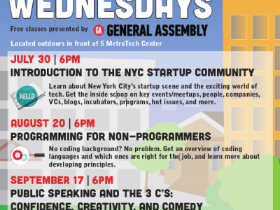 Downtown Brooklyn: Programming for Non-Programmers