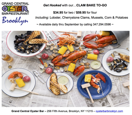 Park Slope: Clam Bake To-Go Courtesy of Grand Central Oyster Bar BK