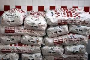 Don't worry about 5 Guys running out of fries, they've got plenty!