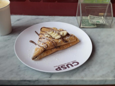 Great Takeout at CUSP – Crepe and Espresso Bar