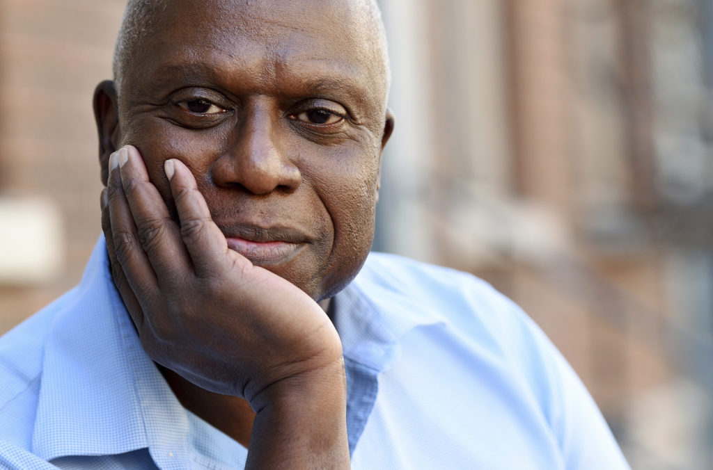 "In this Nov. 2, 2018 file photo, Andre Braugher, a cast member in the television series ""Brooklyn Nine-Nine,"" poses for a portrait at CBS Radford Studios in Los Angeles. (Photo by Chris Pizzello/Invision/AP)"