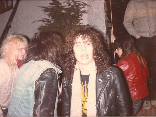 Metallica's Kirk Hammett outside the club. Photo by Staci Bakanowsky via the L'Amour Book