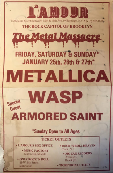 The Metal Massacre show poster. Photo from the Alex Kayne Collection via the L'Amour Book