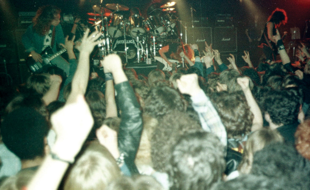 Metallica at L'Amour in January 1985. Photo from the Alex Kayne Collection via the L'Amour Book