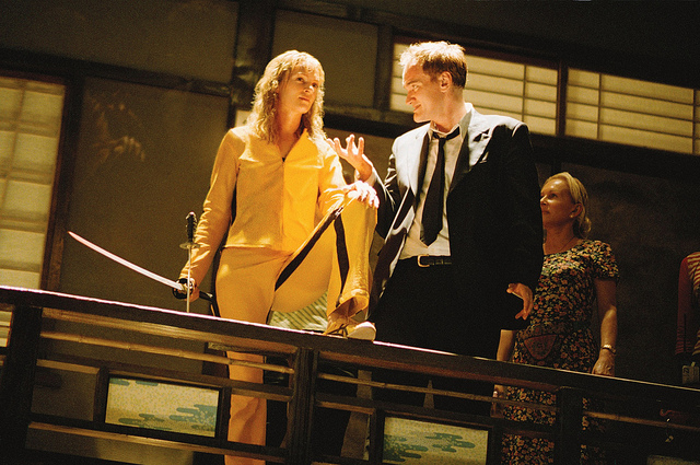 "Uma Thurman and Quentin Tarantino appear in ""Kill Bill."" Image: Flickr/Raoul Luoar"