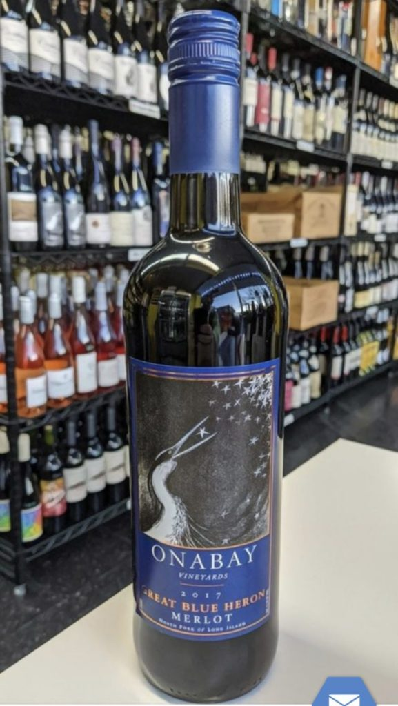 You might want to consider drinking this Merlot: Onabay Great Blue Heron Merlot 2017 750ml – Divino.