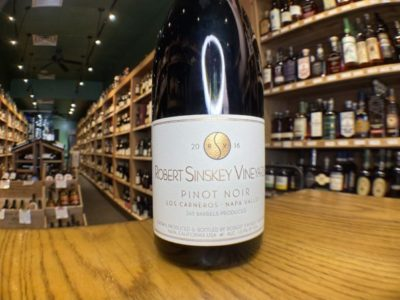 Wine Time: Napa's Robert Sinskey Vineyard Recommended & Available on Montague Street